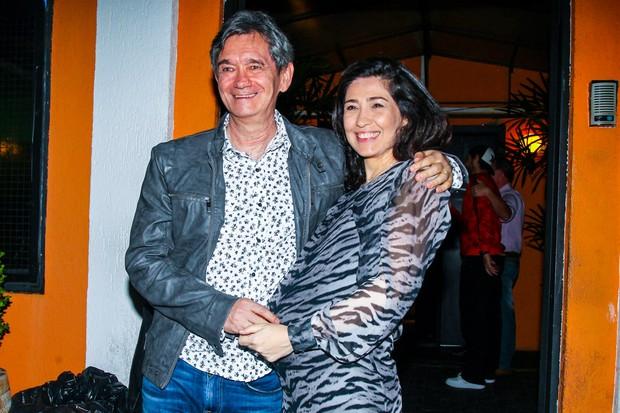 Serginho Groisman e a esposa Fernanda (Foto: Manuela Scarpa e Marcos Ribas/Photo Rio News)