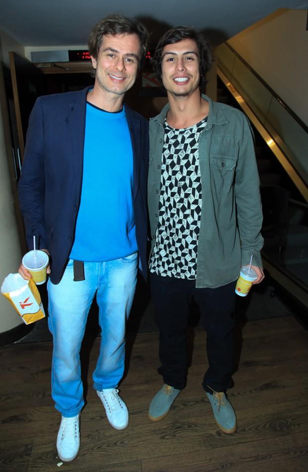 João Vitti e Francisco Vitti (Foto: Marcos Ribas/Brazil News)