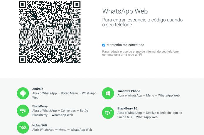 Acesse a página do WhatsApp Web usando o Chrome (Foto: Reprodução/Helito Bijora)  (Foto: Acesse a página do WhatsApp Web usando o Chrome (Foto: Reprodução/Helito Bijora) )