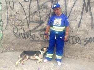 Sandeli que participou do primeiro dia de varrição da Operação Braços Abertos  (Foto: Márcio Pinho/G1)