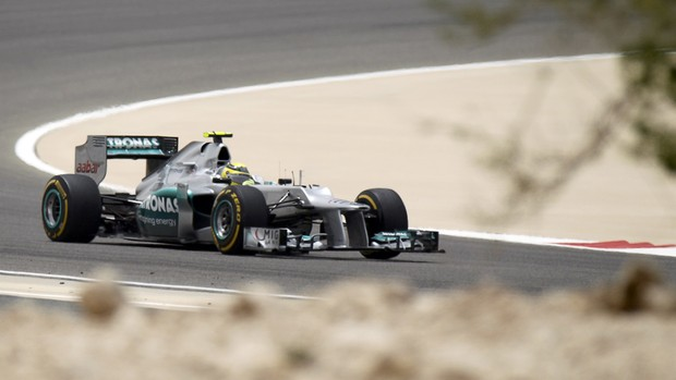 Nico Rosberg, treinoGP do Bahrein (Foto: Reuters)