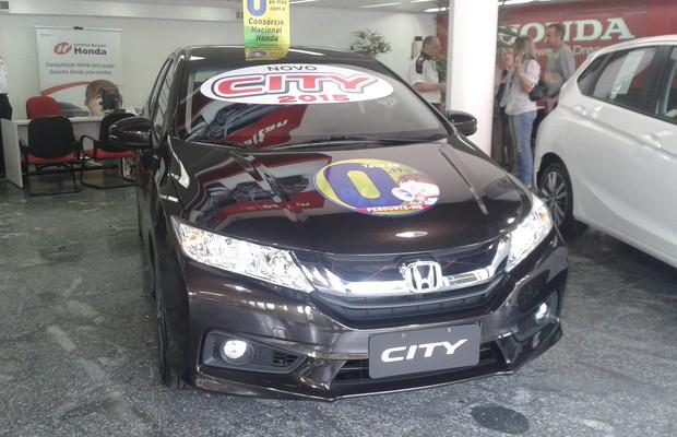 Nas lojas: Honda City 2015 (Foto: Tereza Consiglio)
