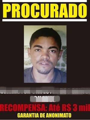 Suspeito procurado por envolvimento na chacina de Poção (Foto: Divulgação/ Disque-Denúncia)