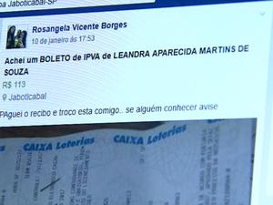 Postagem no Facebook ajudou a reunir Rosangela e Leandra em Jaboticabal (Foto: Reprodução / EPTV)