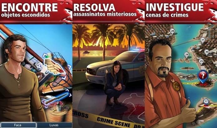 Dexter resolve crimes, mas também apronta das suas em um game de investigação para iOS (Foto: Divulgação)