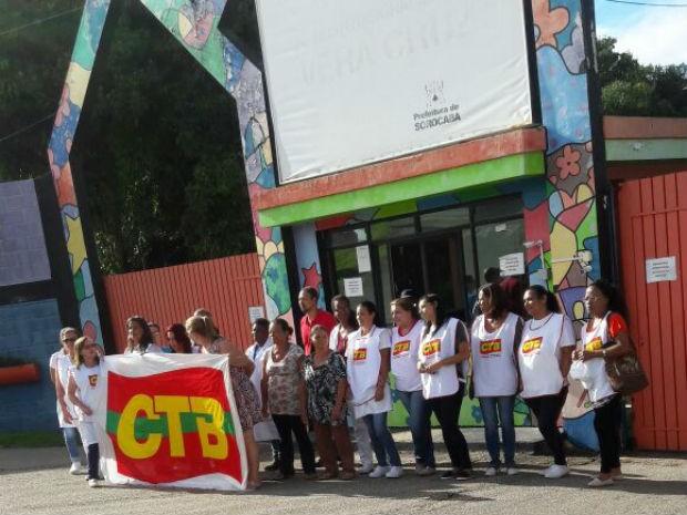 Funcionários do Hospital Vera Cruz continuam em greve (Foto: SinSaúde/Divulgação)