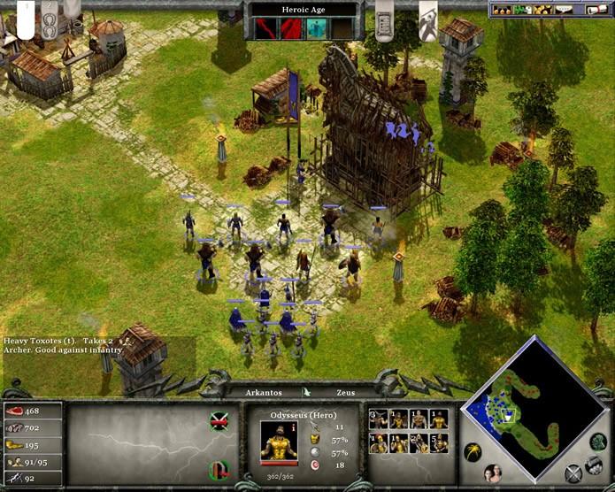 Em Age of Mythology: Extended Edition o jogador irá encontrar vários episódios e personagens mitológicos ao longo de suas campanhas (Foto: Reprodução/Daniel Ribeiro)