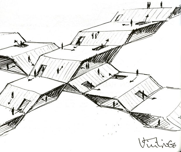 Claude Parent: uma homenagem ao pioneiro da arquitetura oblíqua (Foto: The Funambulist EURL)