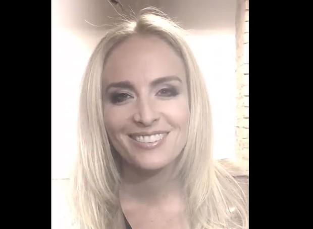 Angélica mandou um vídeo para a campanha (Foto: Arquivo pessoal/ Angélica)