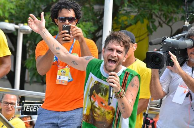 Saulo no Carnaval de Salvador 2014 (Foto: Sandro Honorato e Reynaldo Felix / Ag.FPontes / Divulgação)