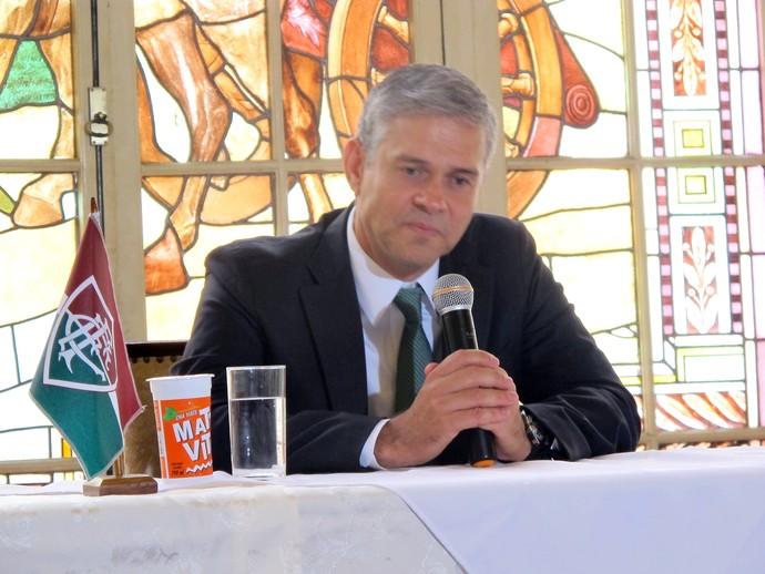 PETER SIEMSEN PRESIDENTE DO fluminense Matte Viton (Foto: Diego Rodrigues)