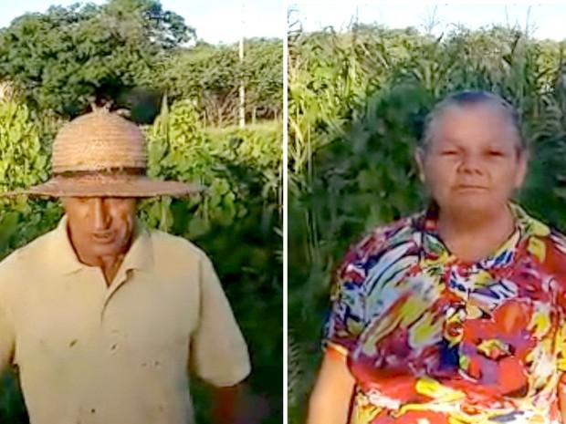 Pais de Kauany, Nilson Pereira e Creuza Alves ainda moram em casa simples na Zona Rural do município de Almino Afonso, no Oeste potiguar (Foto: Reprodução/ Inter TV Cabugi)