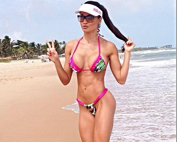 Fernanda D'avila adora curtir o sol (Foto: Arquivo Pessoal)