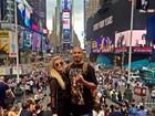 Ex-BBBs Fernando e Aline, do BBB15, viajam para Nova Iorque