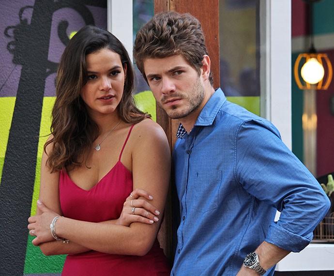 Mari e Ben parecem não acreditar no que estão vendo (Foto: Ariane Ducati/Gshow)