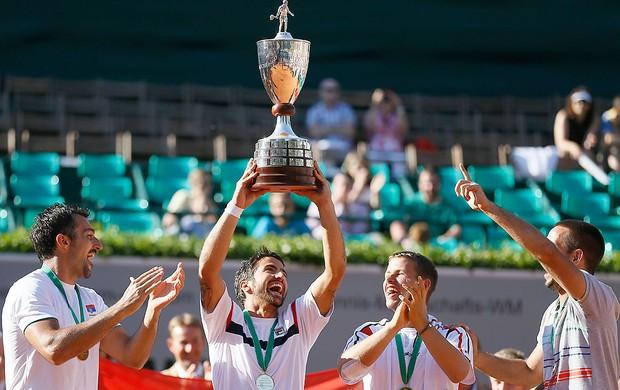 Tipsarevic e Troicki, Copa do Mundo de Nações (Foto: Agência AP)