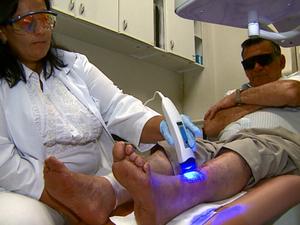 Tratamento promete maior rapidez na cicatrização em São Carlos (Foto: Reprodução/EPTV)