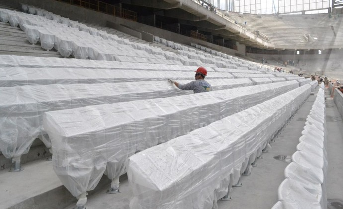 Cadeiras da Arena da Baixada, estádio do Atlético-PR (Foto: Site oficial do Atlético-PR/Divulgação)
