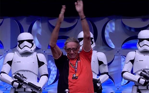 Peter Mayhew, o ator de Chewbacca, também compareceu ao Star Wars Celebration (Foto: Reprodução)