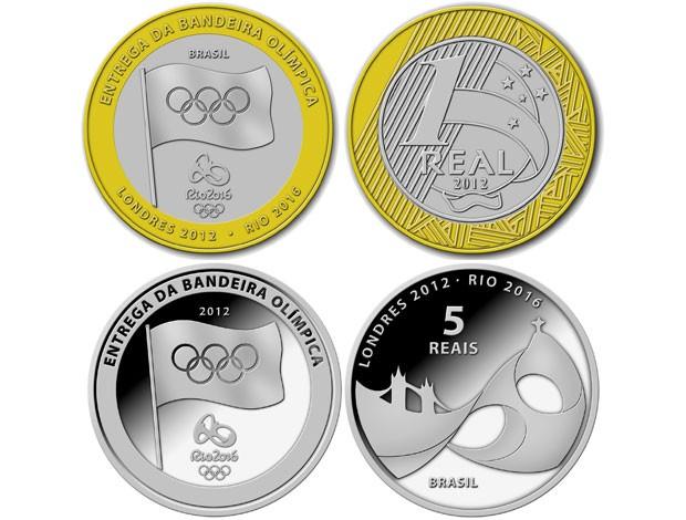 moedas Brasil comemorativas Olimpíadas (Foto: Divulgação/Banco Central)