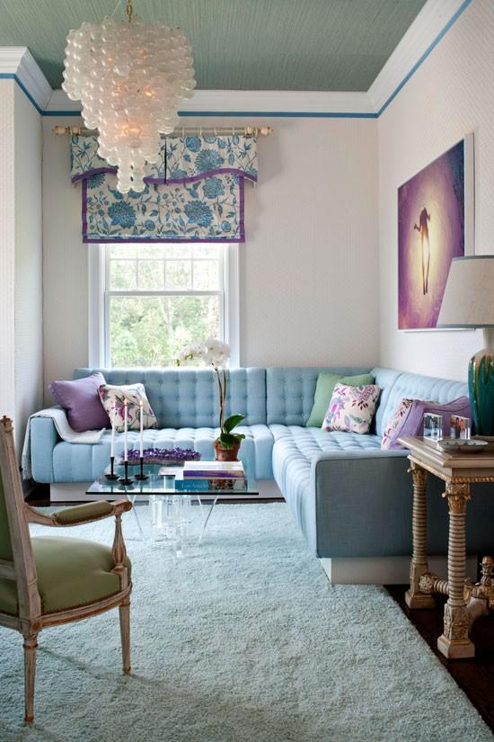 Décor do dia: sala de estar em tons pastéis (Foto: Reprodução)