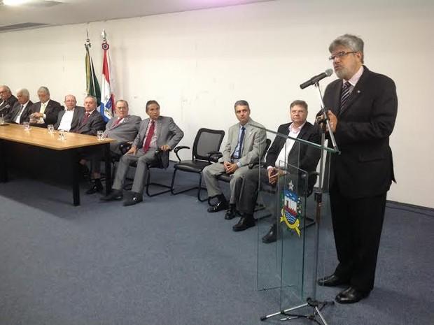 Eduardo Tavares disse que atual gestão vai dar continuidade aos projetos já executados na corporação.  (Foto: Waldson Costa/G1)