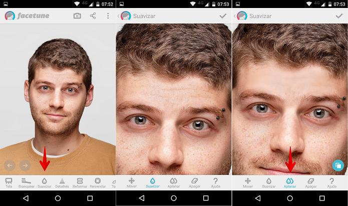 Suavizando traços faciais (Foto: Felipe Alencar/TechTudo)