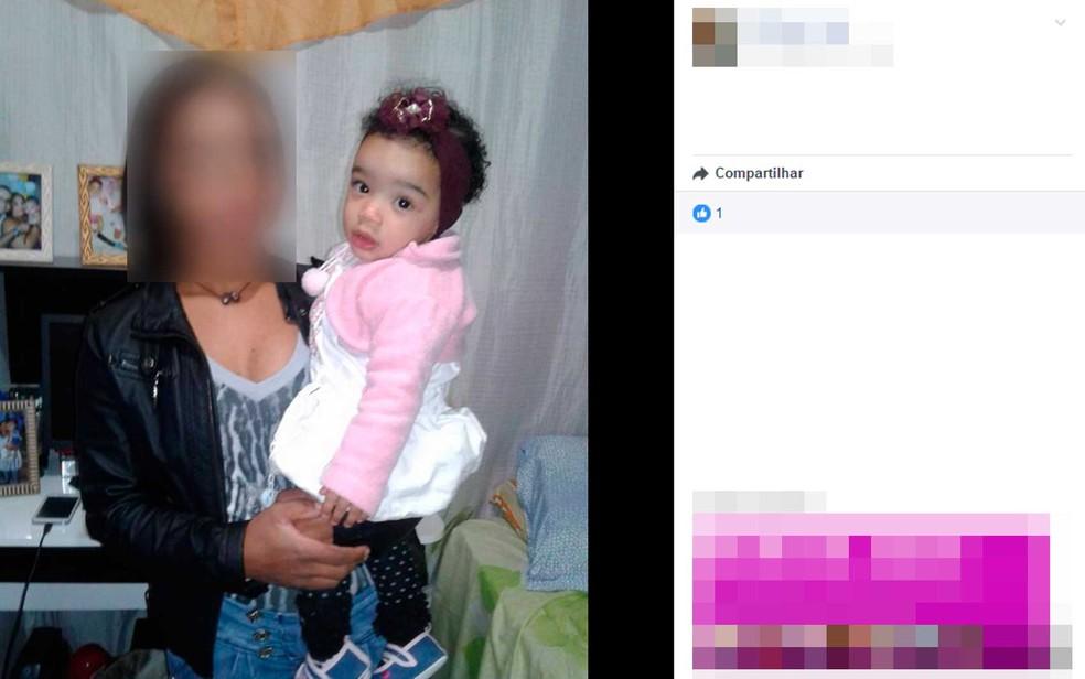 Criança de um ano foi achada morta dentro de caixa d'água no sítio dos avós, no sul da Bahia (Foto: Reprodução/Facebook)