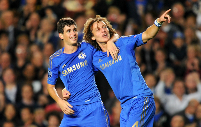 Oscar David Luiz Chelsea (Foto: Getty Images)