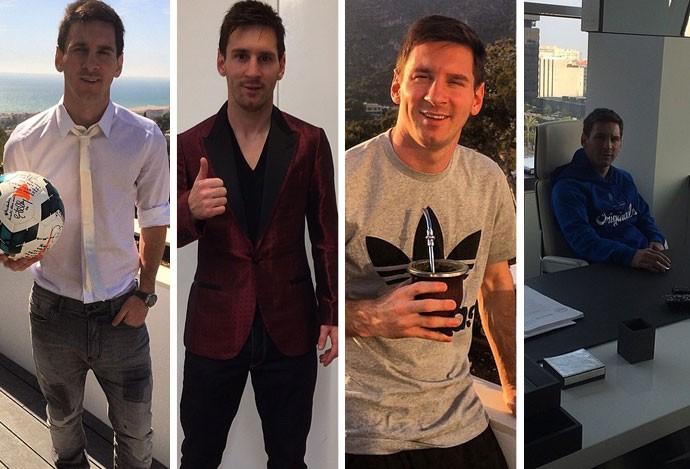 lionel Messi posa para fotos (Foto: Reprodução / Instagram)