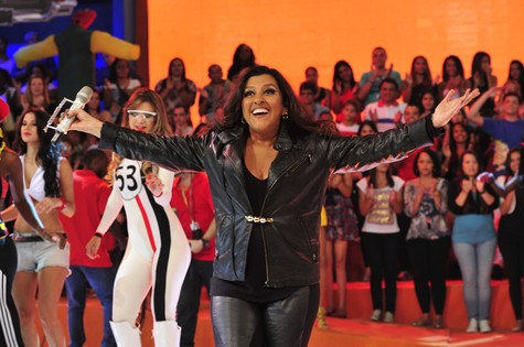 Regina Casé no 'Esquenta!' (Foto: Alex Carvalho/TV Globo)