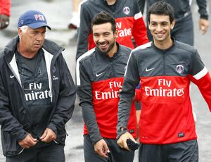 Carlo Ancelotti técnico Lavezzi Pastore Paris Saint-Germain PSG (Foto: AFP)