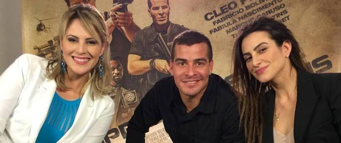 Jessica Leão entrevista elenco do filme 'Operações Especiais' (Foto: Reprodução / TV Diário)