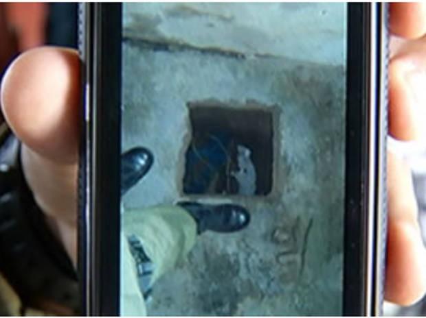 Em Santarém: túnel escavado por detentos tinha 10 metros de profundidade. (Foto: Reprodução/TV Tapajós)
