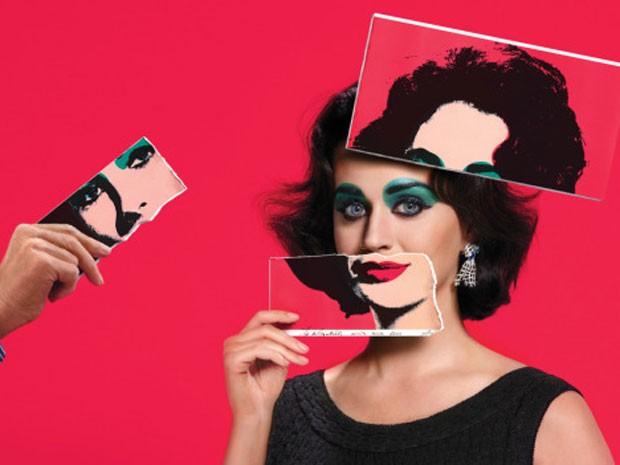 Katy Perry posa como Elizabeth Taylor em ensaio da revista Harper's Bazaar (Foto: Reprodução/Harper's Bazaar)
