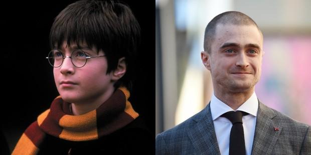 Daniel Radcliffe no primeiro Harry Potter e hoje (Foto: Divulgação/ Warner Bros | Robyn Beck AFP)