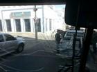 Ônibus do Guarani é apedrejado antes da final da Taça Fares Lopes, no Ceará