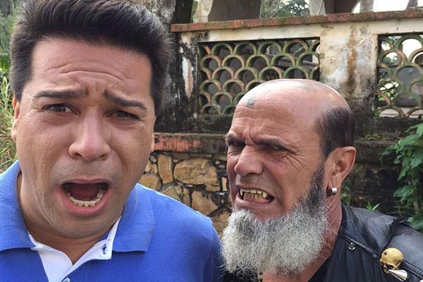 Marcelo Honorato conversa com o Vampiro Brasileiro, em Patrocínio (Foto: Divulgação | Tô Indo)