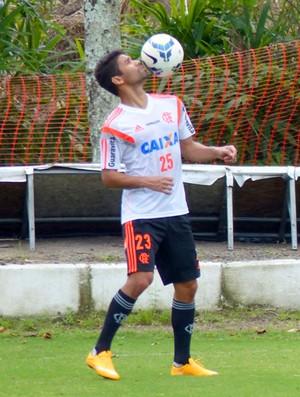 Treino Flamengo - Eduardo da Silva (Foto: Cahê Mota)
