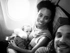 Igor Rickli posta foto de Aline Wirley amamentando o filho: 'Abastecendo'
