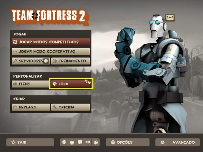 Entre na Loja de Team Fortress 2 (Foto: Reprodução/Paulo Henrique)