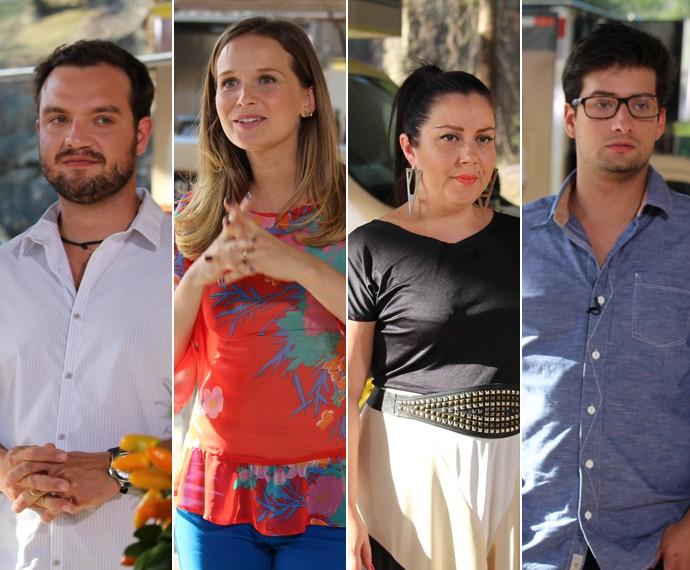 Jurados da semifinal do 'Super Chef' (Foto: Carolina Morgado/Gshow)