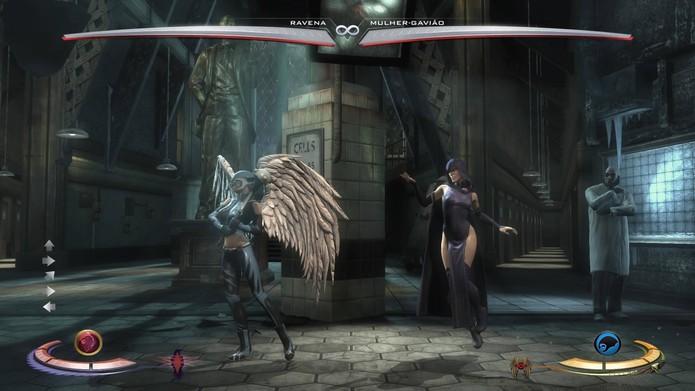 O cenário do Arkham em Injustice (Foto: Reprodução/Felipe Vinha)