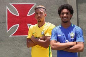 O atacante Caio Monteiro e o volante Douglas foram convocados para disputar o Sul-Americano sub-20 pela Seleção  (Foto: Carlos Gregório Jr / Vasco.com.br)
