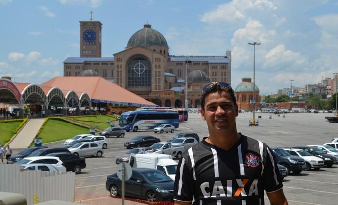 Torcedor do Corinthians em Aparecida Nossa Senhora (Foto: Danilo Sardinha/GloboEsporte.com)