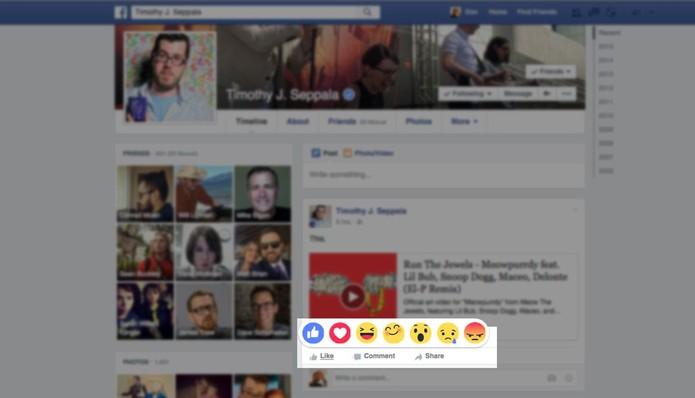 Facebook irá começar a testar botão com sentimentos (Foto: Reprodução/Engadget)