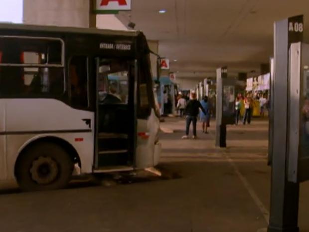 Rodoviária do Plano Piloto com pouca movimentação devido à paralisação de rodoviários (Foto: TV Globo/Reprodução)