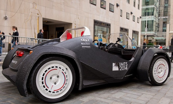Veículo impresso em 3D tem design que lembra buggy (Foto: Reprodução/Mashable)