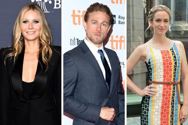 Gwyneth Paltrow, Charlie Hunnam e Emily Blunt já recusaram trabalhos de destaque em Hollywood. Será que valeu a pena?  (Foto: Getty Images)