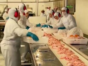 Bahia só produz 60% da carne de frango que consome (Foto: Reprodução/TV Bahia)